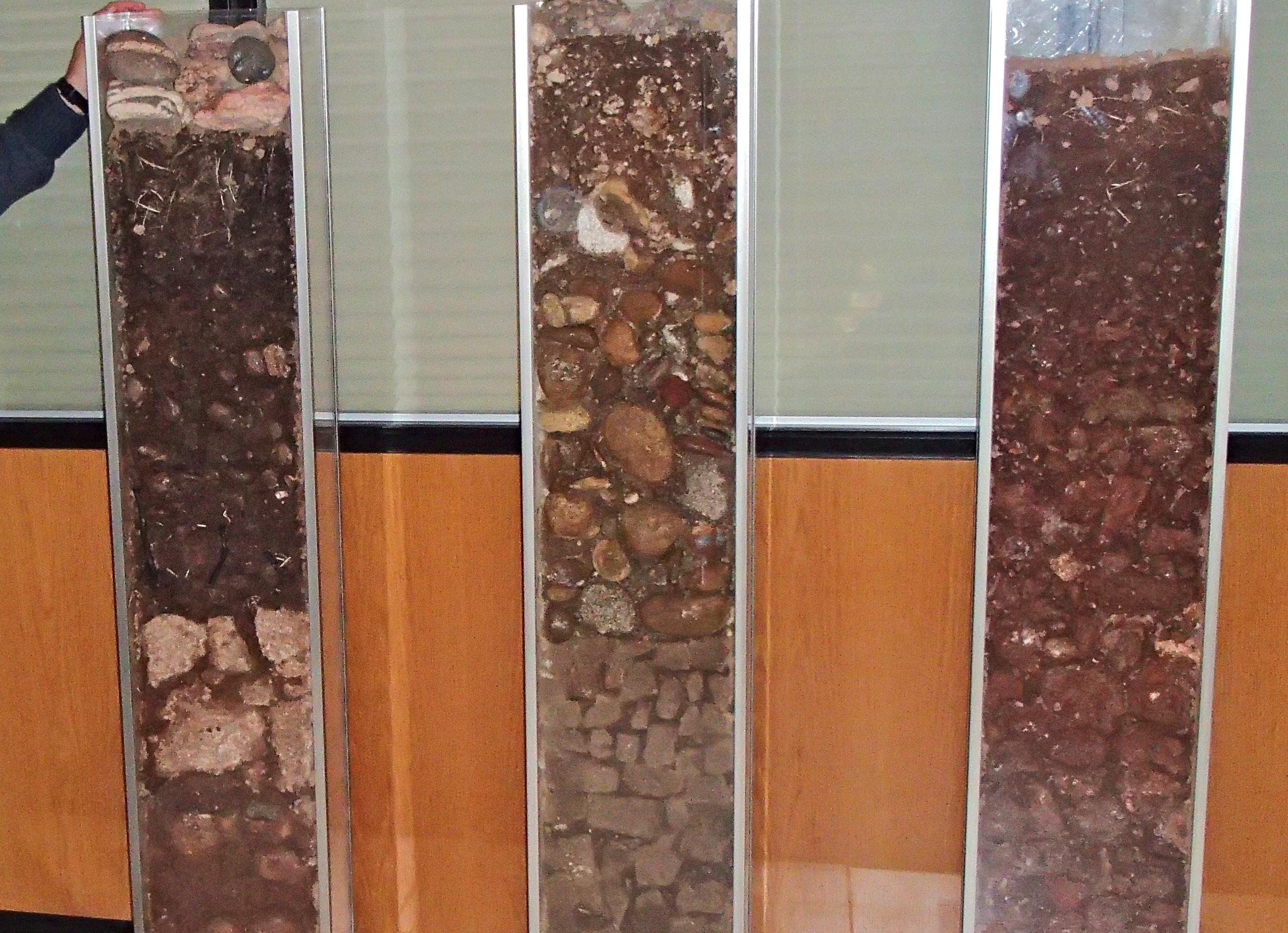 Perfiles de suelos del Somontano