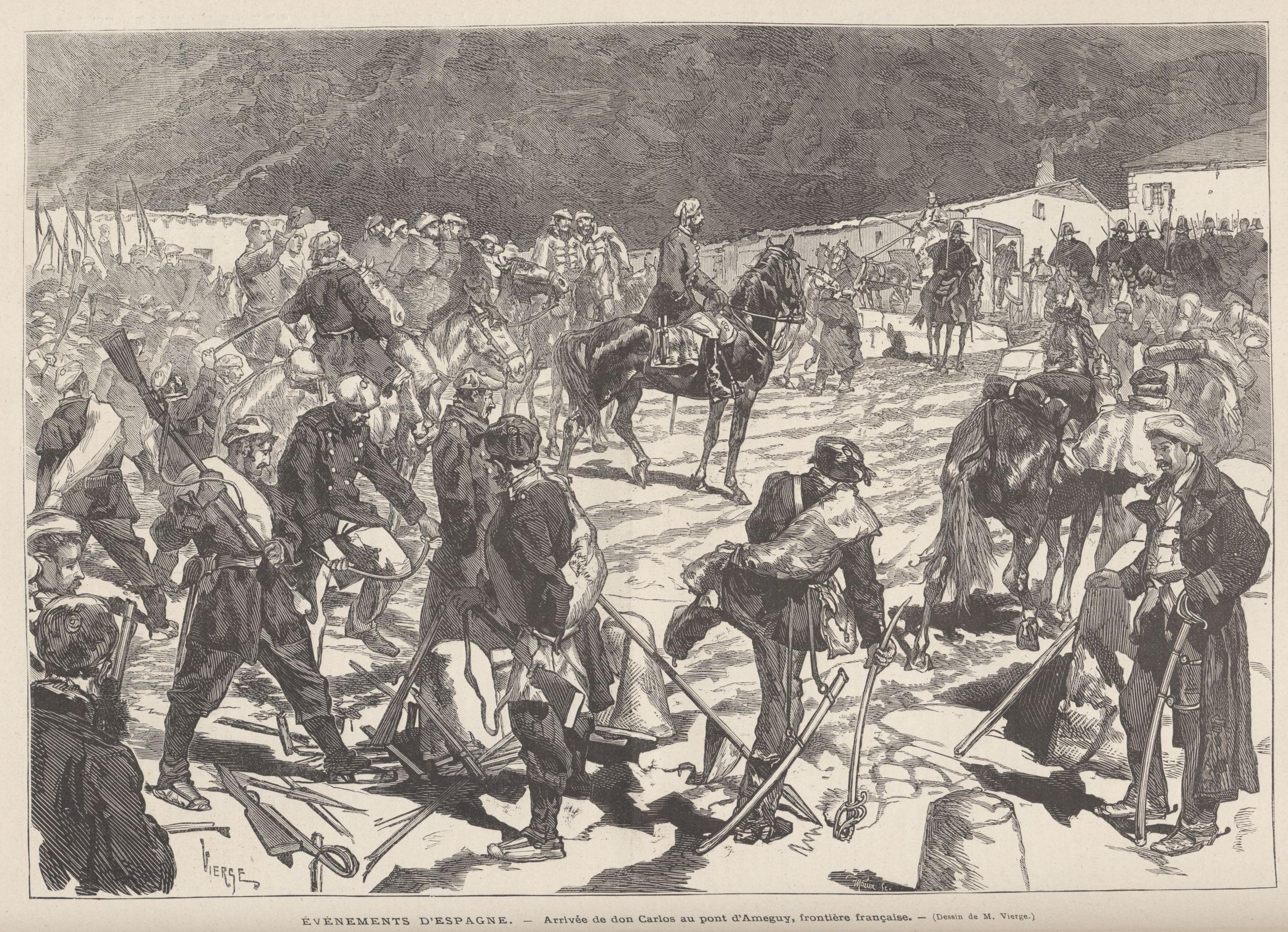 Carlistas en la frontera francesa